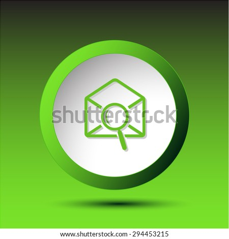 mail find. Plastic button. Vector illustration. - stock vector