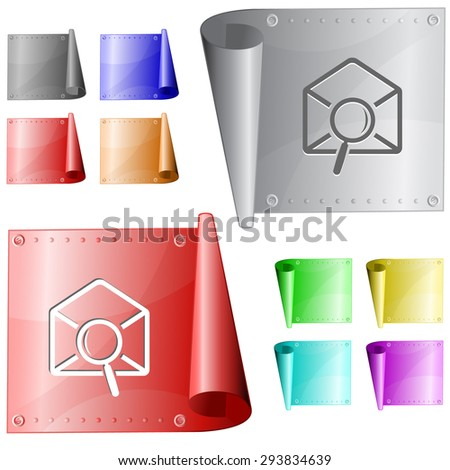 mail find. Vector metal surface. - stock vector