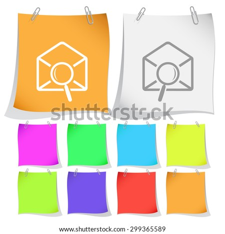 mail find. Vector note papers. - stock vector