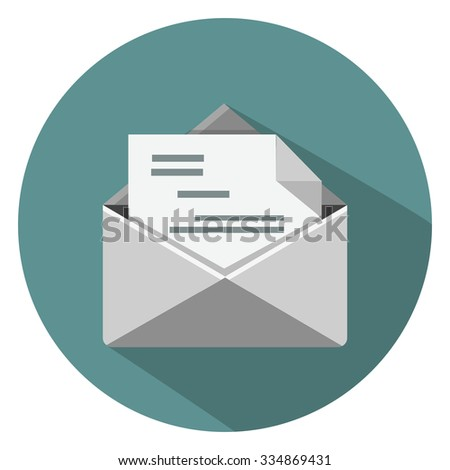 mail flat icon - stock vector