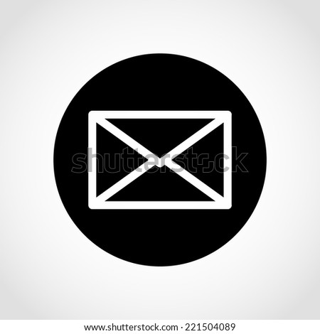 Mail Icon Isolated on White Background - stock vector