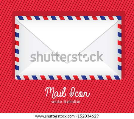 mail icon over lineal background  vector illustration