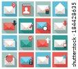 Mail icon set - stock