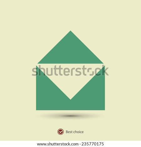 Mail  icon, vector illustration. Flat design style - stock vector
