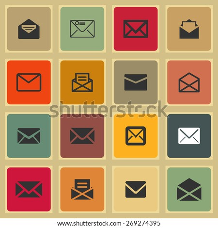 mail icons - stock vector