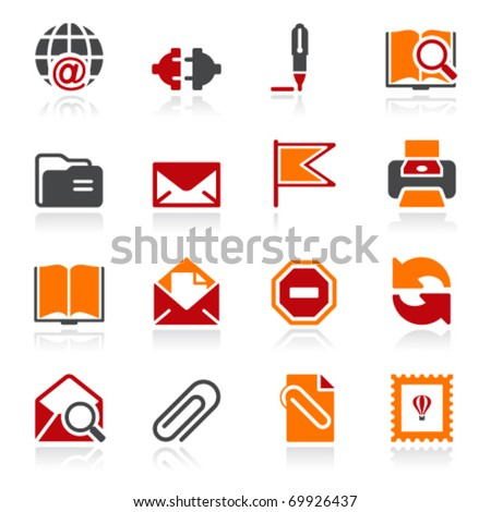 Mail icons. Color series. - stock vector