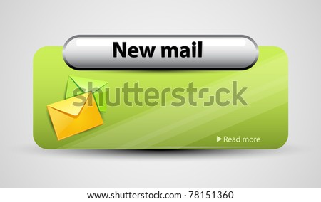 Mail interface with icon. Vector illustration. - stock vector