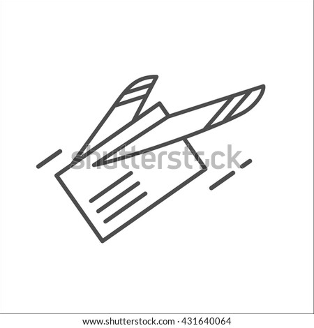 Mail Letter Email Fast Shipping Airmail Stock Vector