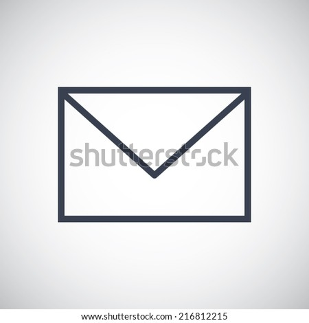Mail Letter Envelope symbol icon. Vector pictogram. Simple flat metro design style. esp10 - stock vector