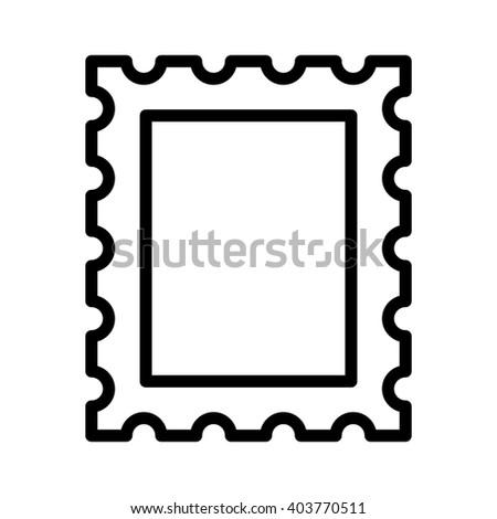 mail letter postage stamp line art stock vector 403770511 shutterstock rh shutterstock com postage stamp outline clip art postage stamp clip art blank