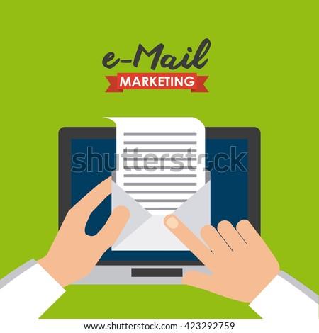 mail marketing design  - stock vector