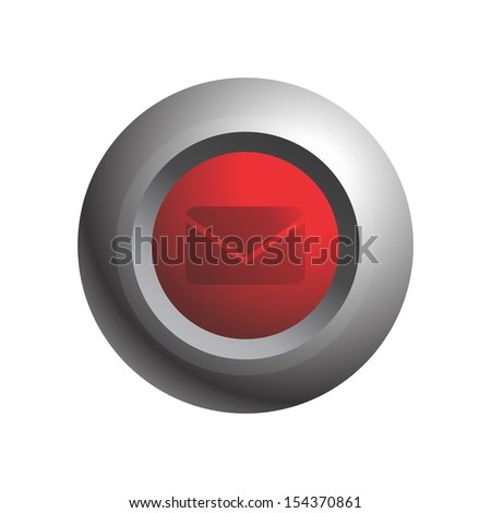 mail message sphere button