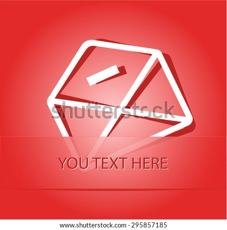 mail minus. Paper sticker as bookmark. Vector illustration. Eps10. - stock vector