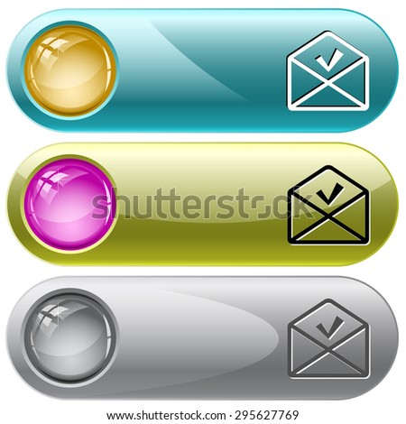 mail ok. Vector internet buttons. - stock vector
