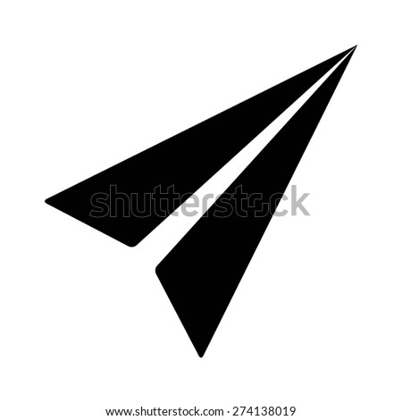 Mail paper airplane flat icon for apps and websites - stock vector