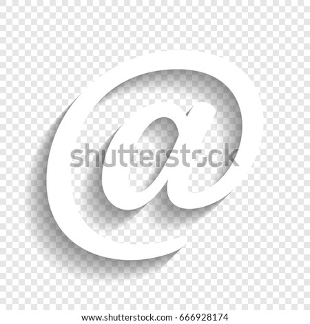 mail sign illustration vector white icon stock vector