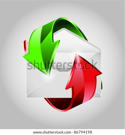 Mail vector - stock vector