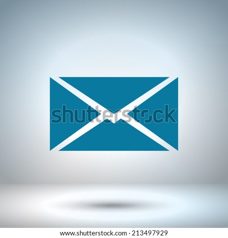 mail - Vector icon - stock vector