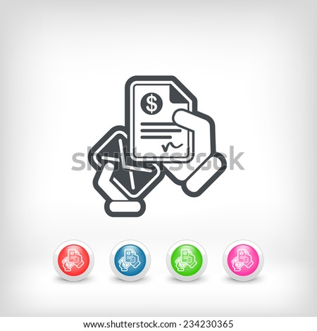 Mail with a bank document - stock vector