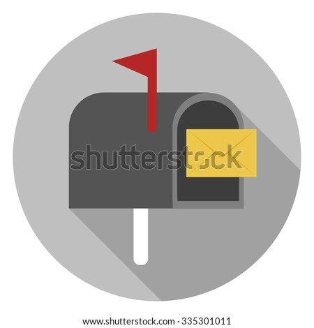 mailbox icon - stock vector