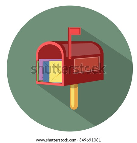 mailbox icon - flat icon - stock vector