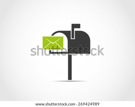 Mailbox Receiving Icon - stock vector