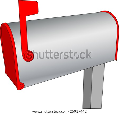 Mailbox with mail. Vector