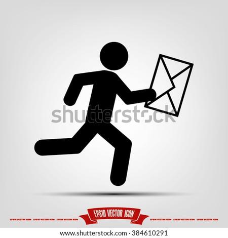 mailman icon - stock vector