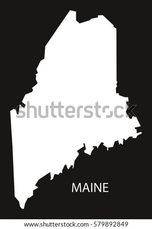 Modern Map Maine Usa Stock Vector Shutterstock - Maine usa map
