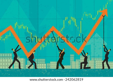 Maintaining Profits - stock vector