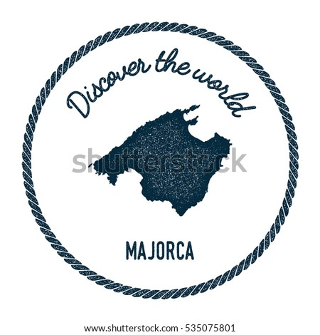 Majorca map vintage discover world rubber vectores en stock majorca map in vintage discover the world rubber stamp hipster style nautical postage majorca stamp gumiabroncs Choice Image