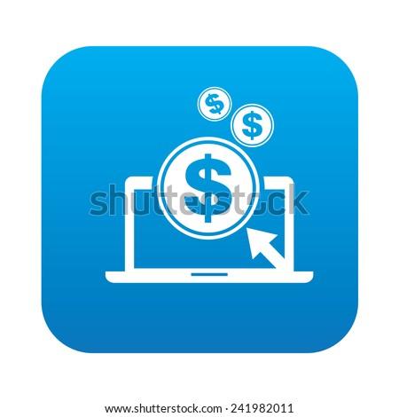 Making Money Icons Make Money Icon on Blue Button
