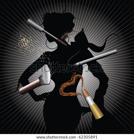 Make up - stock vector
