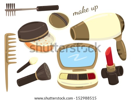 make up kit icon - stock vector
