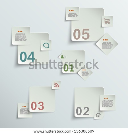 Make your choice - paper stickers eps10 vector illustration - stock vector