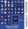 Make your own Health and Safety sign graphics individually layered - stock photo