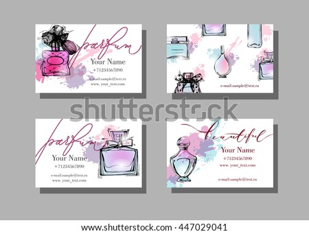 Makeup artist business card vector template stock vector 447029041 makeup artist business card vector template with beautiful perfume bottle fashion and beauty background flashek Images
