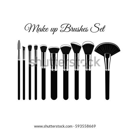 makeup brush vector - photo #10