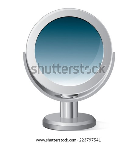 Makeup mirror isolated on white