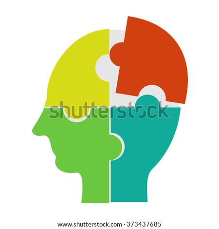 Making a solution concept. Human learning, human brainstorming, or human thinking concept illustration. - stock vector