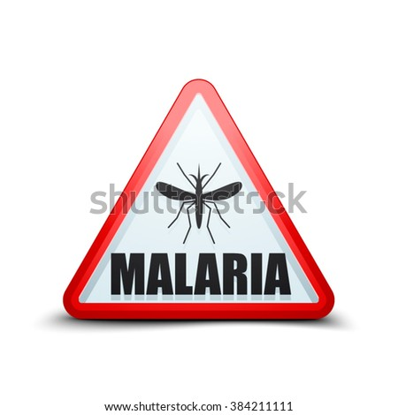 Malaria danger sign - stock vector