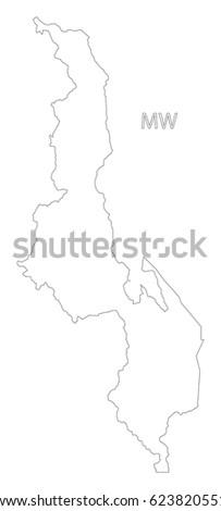 Malawi Region Map Stock Images RoyaltyFree Images Vectors - Malawi blank map