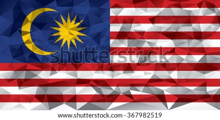 Malaysia flag vector illustration. - stock vector