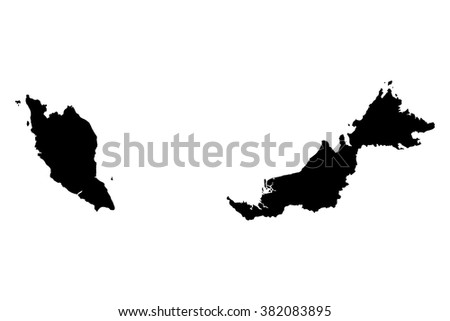 Malaysia map on white background vector