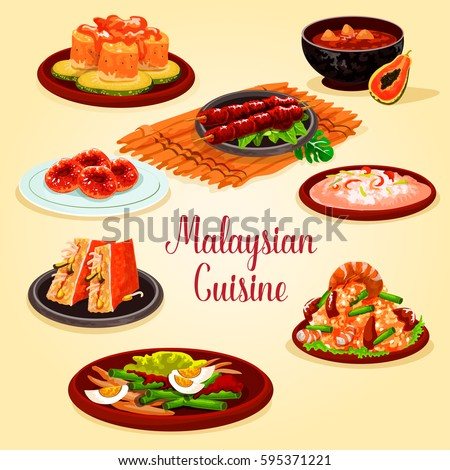 spanish cuisine dinner menu cartoon icon stock vector 696912343