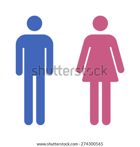 Bathroom Sign Man And Woman man woman icons restroom icon toilet stock illustration 381412501