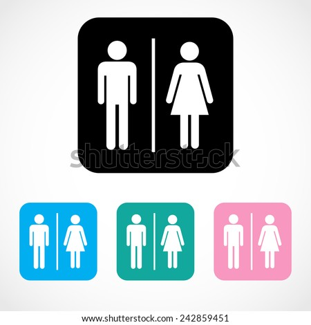 Male and Female Restroom Symbol