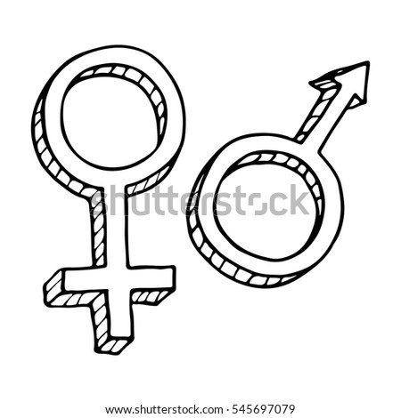Male and female sex symbol.