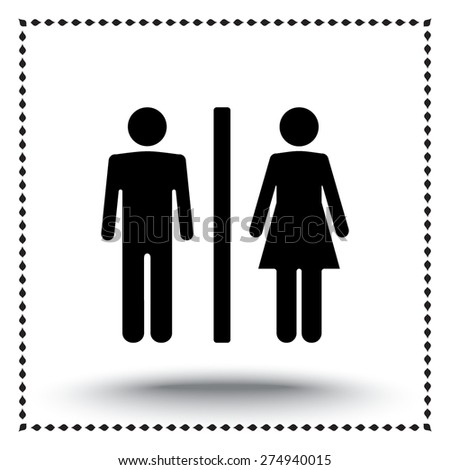 Male and Female sign icon, vector illustration. Flat design style - stock vector