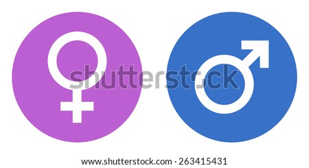 male female gender vector icons - stock vector